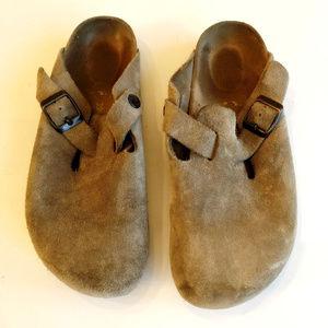 Birkenstock Brown Suede Leather Clog 39